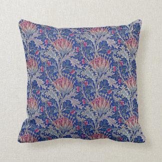 Coussin chardon rose bleu