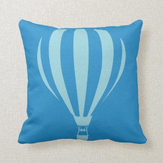 Coussin chaud bleu de jet de ballon à air