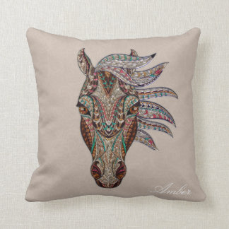 Coussin Cheval tribal