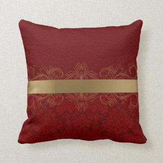 Coussin Conception en cuir rouge de texture