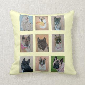 Coussin conception réaliste d'art de portraits de chien