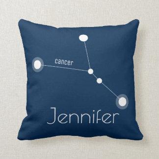 Coussin Constellation personnalisée de zodiaque de Cancer