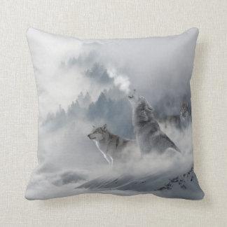 Coussin Copie de loup de neige