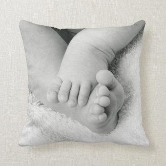 Coussin/coussin de dos de bleu d'orteils de bébé oreillers