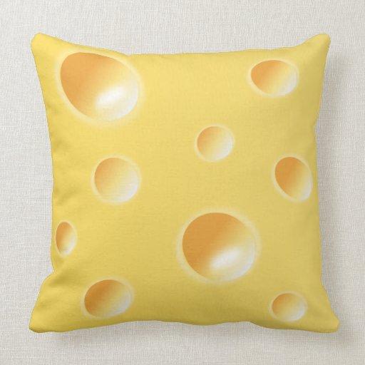 coussin coussin jaunes de texture de fromage suiss zazzle. Black Bedroom Furniture Sets. Home Design Ideas