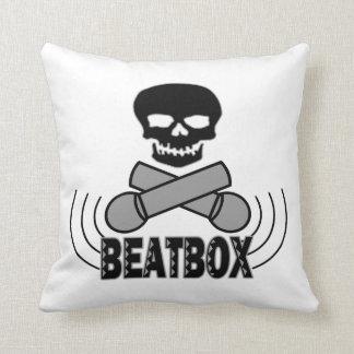 Coussin Crâne et Crossbone Mics de Beatbox