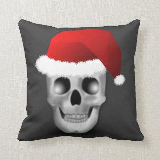Coussin Crâne le père noël de Goth de Noël