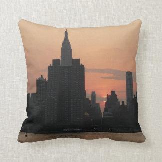 Coussin Crépuscule-Horizon de New York
