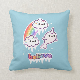 Coussin Croyez au Narwhals