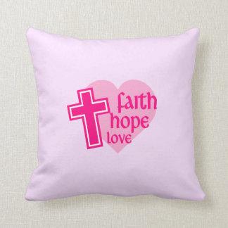 Coussin d'amour d'espoir de foi