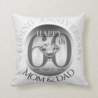 Coussin d'anniversaire de mariage de diamant