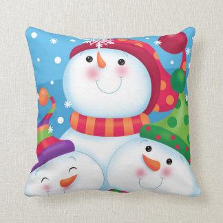 Coussin de bonhommes de neige