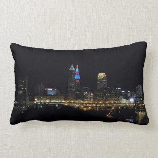 Coussin de Cleveland Ohio de lumières de nuit