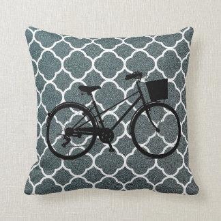 Coussin de décor d'art de vélo de bicyclette de