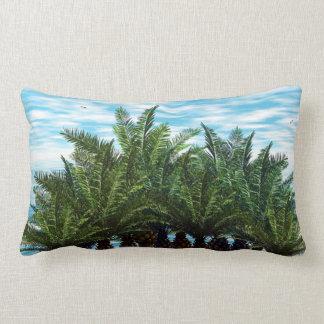 Coussin de décor de coucher du soleil de palmier