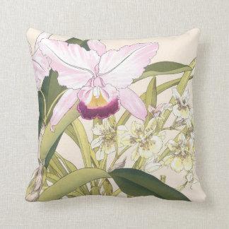 Coussin de fleurs d'orchidée
