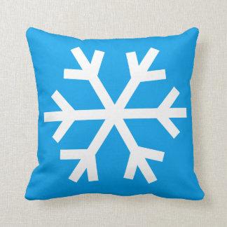 Coussin de flocon de neige - bleu