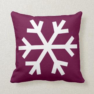 Coussin de flocon de neige - framboise