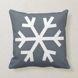 Coussin de flocon de neige - gris
