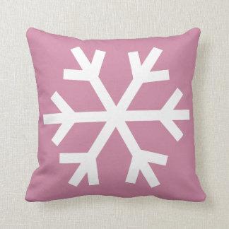 Coussin de flocon de neige - rose