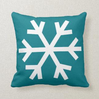 Coussin de flocon de neige - sarcelle d'hiver