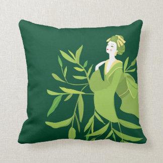 Coussin de geisha de thé vert