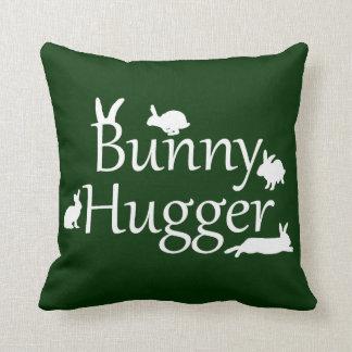 Coussin de Hugger de lapin (vert-foncé)