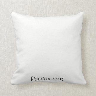 Coussin de jet de chat persan