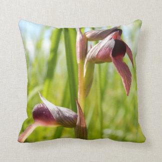 Coussin de jet d'orchidée de langue