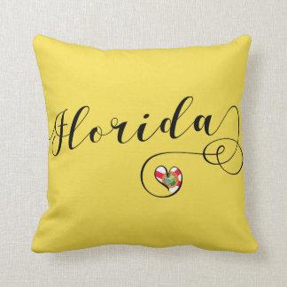 Coussin de la Floride de coeur, Miami de Floride