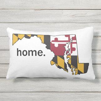 Coussin de maison de drapeau/état du Maryland -