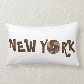 Coussin de marbre de bagels de bagel de New York