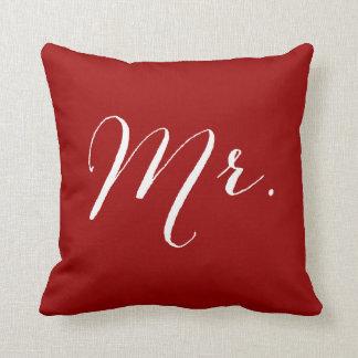Coussin de mariage de M. Groom Double Happiness
