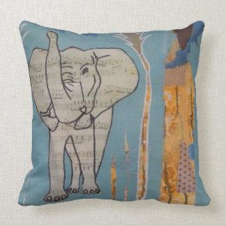 Coussin de musique d'éléphant