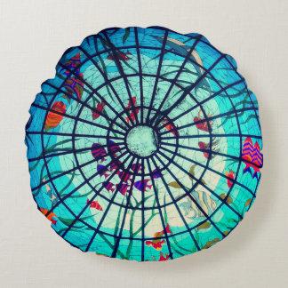 Coussin de pédé de la vie d'océan en verre souillé