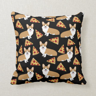 Coussin de pizza de corgi