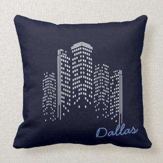 Coussin de polyester de paysage urbain de Dallas