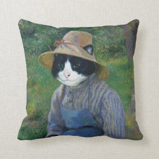 Coussin de portrait de chat
