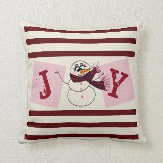 Coussin décoratif de vacances de bonhomme de neige