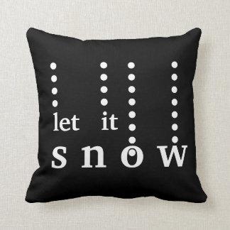 Coussin Décoratifs modernes l'ont laissé neiger