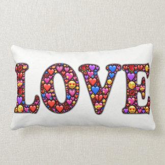 Coussin d'Emoji d'amour