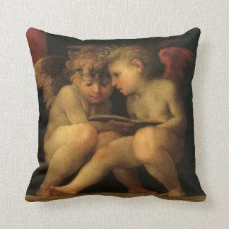 Coussin Deux anges lisant par Rosso Fiorentino, anges