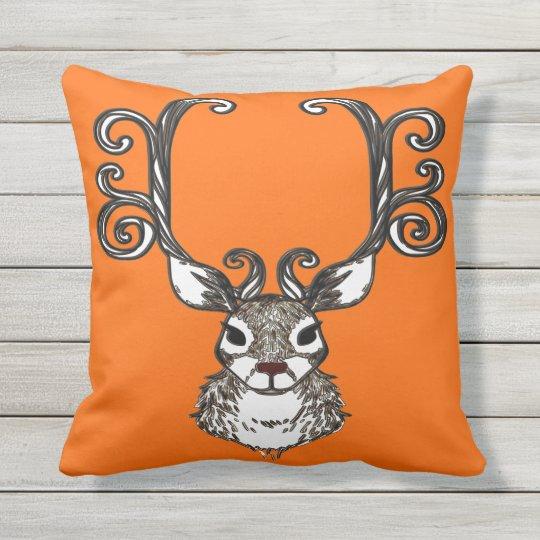 Coussin D'extérieur Orange extérieure de renne de brun de cottage