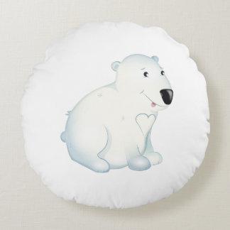 """Coussin d'ours blanc de """"petit de bébé joint"""