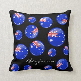 Coussin Drapeau australien rond brillant