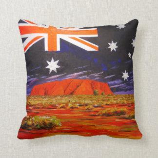 Coussin Drapeau d'Australien de roche d'Ayers
