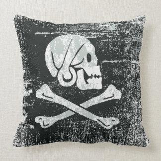 Coussin Drapeau d'Henry de pirate de Grunged