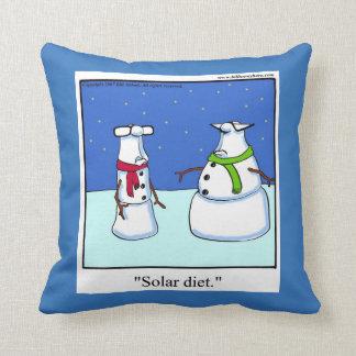 Coussin drôle d'humour de bonhomme de neige