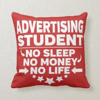 Coussin Étudiant universitaire de la publicité l'aucune