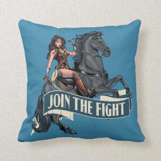 Coussin Femme de merveille sur l'art comique de cheval